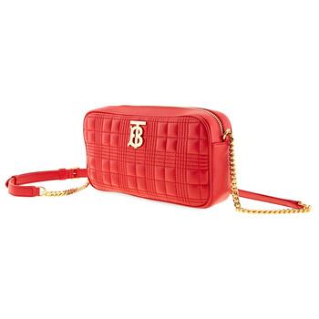Burberry Bright màu đỏ Chần bông Lambskin Camera Bag Chính hãng từ Mỹ