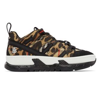 Giày Burberry Beige Leopard Print Low Top Sneakers chính hãng
