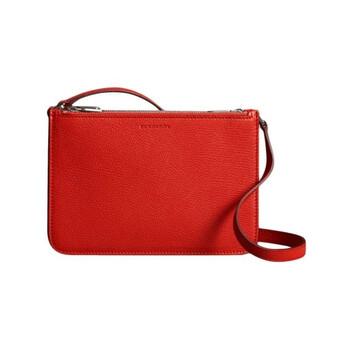 Burberry Bright màu đỏ Triple Zip Túi đeo chéo Chính hãng từ Mỹ