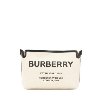 Burberry Brown size trung Horseferry Print Canvas Clutch Chính hãng từ Mỹ