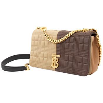 Burberry Brown size nhỏ Chần bông Colour Block Lambskin Lola Bag Chính hãng từ Mỹ
