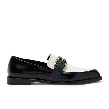 Giày Burberry Colour Block Leather Monk Strap Loafers chính hãng