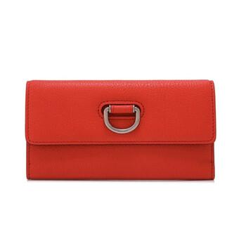 Burberry D Ring Bright màu đỏ Foldover Continental Ví Chính hãng từ Mỹ