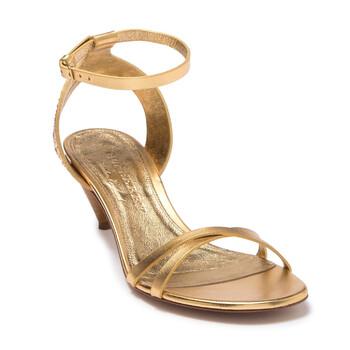 Giày Burberry Hansel Kitten Heel Studded Leather Sandal chính hãng