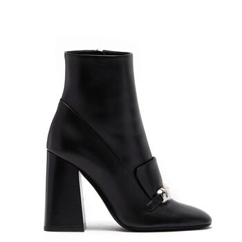 Giày Burberry nữ màu đen Brabant Leather Block-heel Boots chính hãng sale giá rẻ