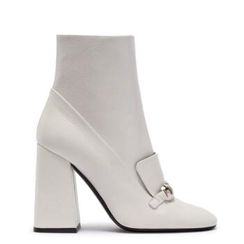 Giày Burberry nữ Brabant Block-Heel Leather Boots chính hãng