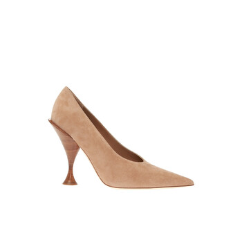 Giày Burberry Suede Pumps On Decorative Heel chính hãng
