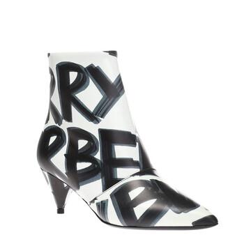 Giày Burberry Wilsbeck Graffiti Logo Print Leather Ankle Boots chính hãng sale giá rẻ
