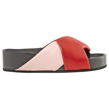 Giày Celine Twist Sandal màu đỏ chính hãng sale giá rẻ