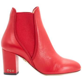 Giày Charlotte Olympia nữ màu đỏ XX Solid Calf Boots chính hãng