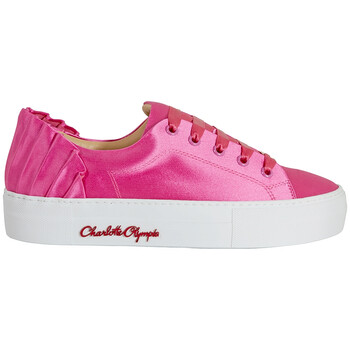 Giày Charlotte Olympia nữ màu hồng Sneaker Satin W Pleat Bk chính hãng sale giá rẻ