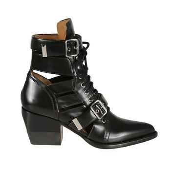 Giày Chloe nữ màu đen Rylee Boots In Shiny Calfskin chính hãng