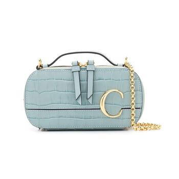 Chloe Nữ Fasded màu xanh dương C Mini Vanity Bag Chính hãng từ Mỹ