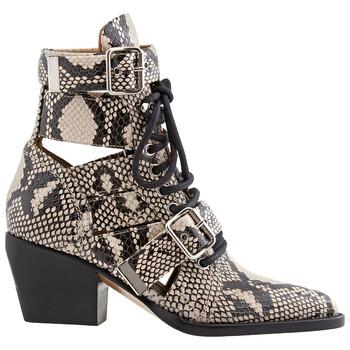 Giày Chloe nữ Python Boots màu xám chính hãng