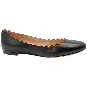 Giày Chloe nữ Scalloped Ballet Flats màu đen chính hãng
