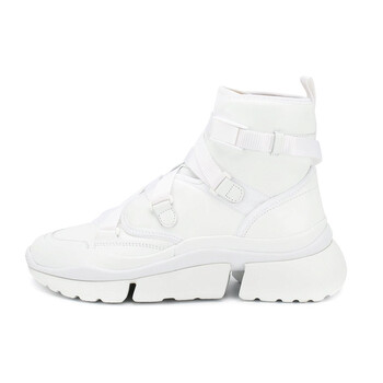 chloe ladies white sonnie high top sneaker chc19s05075101