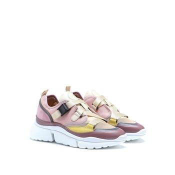 Giày Chloe màu hồng Sonnie Sneaker chính hãng