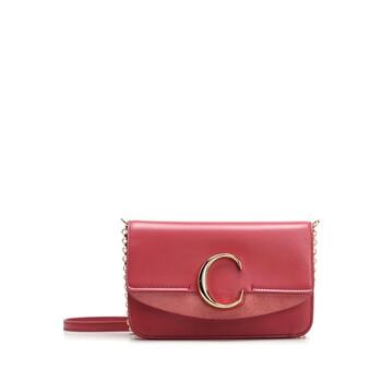 Chloe màu đỏ C Chain Clutch Chính hãng từ Mỹ