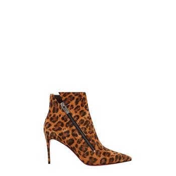 Giày Christian Louboutin Birgikate nữ leaopard Booties chính hãng