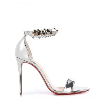 Giày Christian Louboutin Planetava nữ Metallic Fashion Sandals chính hãng sale giá rẻ