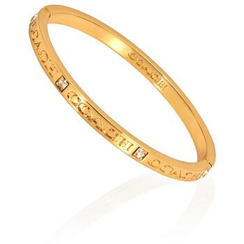 Trang sức Coach Gold Engraved Vòng đeo tay chính hãng sale giá rẻ Hà nội TPHCM