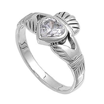 Trang sức Dazzling Rock Nữ 925-Sterling Bạc 925 1 CT White Cubic Zirconia Promise Nhẫn Size 10 chính hãng sale giá rẻ Hà nội TPHCM
