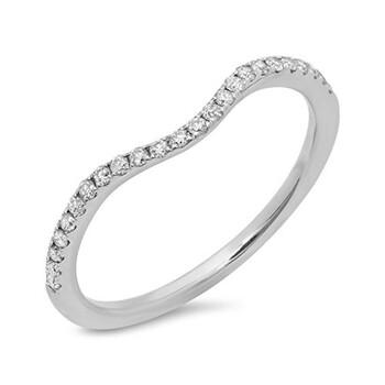Trang sức Dazzling Rock Nữ Vàng trắng 14K 0.19 CT Round Cut Kim cương trắng Nhẫn cưới Size 6 chính hãng sale giá rẻ Hà nội TPHCM