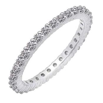 trang sức Dazzling Rock Nữ Vàng 14K 1 CT Kim cương trắng Eternity Nhẫn Size 7 chính hãng sale giá rẻ tại Hà nội TPHCM