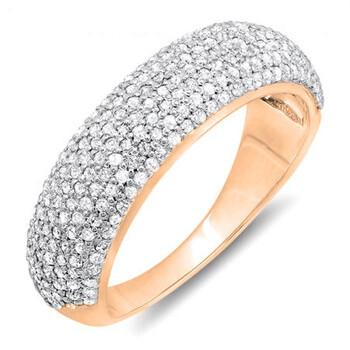 Trang sức Dazzling Rock Nữ Vàng hồng 18K 0.9 Ct Kim cương trắng Anniversary Nhẫn Size 5 chính hãng sale giá rẻ Hà nội TPHCM
