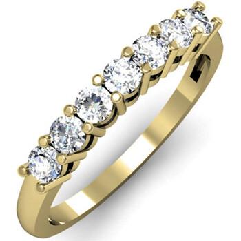 Trang sức Dazzling Rock Nữ Vàng 18K 0.5 Ct Kim cương trắng Nhẫn cưới Size 7 chính hãng sale giá rẻ Hà nội TPHCM