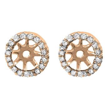 Trang sức Dazzling Rock Dazzlingrock Collection 0.25 Carat (ctw) 18K Round Kim cương Removable Jackets for Stud Bông tai (khuyên tai