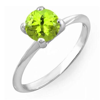 Trang sức Dazzling Rock Dazzlingrock Collection Bạc 925 7 MM Round Cut Peridot Solitaire Bridal Nhẫn đính hôn, Size 6 chính hãng sale giảm giá sỉ rẻ nhất ở Hà nội TPHCM