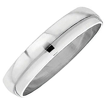Dazzling Rock Vàng trắng 10K Nam Nữ Unisex Nhẫn Wedding Band 6MM Domed Plain Shiny Polished Traditional Fit (Available Sizes 5 to 13) size 7