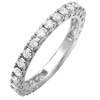 Trang sức Dazzling Rock Dazzlingrock Collection 0.90 Carat (ctw) 14K Round Kim cương Eternity Sizeable Stackable Wedding Band