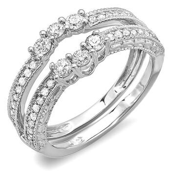 Trang sức Dazzling Rock Dazzlingrock Collection 0.60 Carat (ctw) 14K Round Kim cương Nữ Anniversary Wedding Band