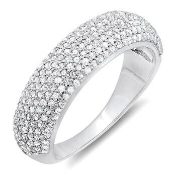 Trang sức Dazzling Rock Dazzlingrock Collection 0.90 Carat (ctw) 10K Round Kim cương Anniversary Wedding Band Nhẫn