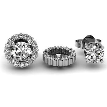 Trang sức Dazzling Rock Dazzlingrock Collection 0.75 Carat (ctw) 14k Round Kim cương trắng Cluster Style Removable Jackets Stud Bông tai (khuyên tai