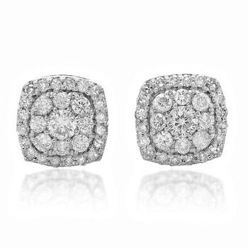 Trang sức Dazzling Rock Dazzlingrock Collection 0.50 Carat (ctw) 14k Real Round Cut Kim cương trắng Nữ Cluster Stud Bông tai (khuyên tai