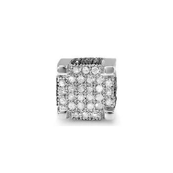 Trang sức Dazzling Rock Dazzlingrock Collection 0.49 Carat (ctw) 14K Đen và Kim cương trắng Nam Hip Hop Stud Earring 1/2 CT (1pc)