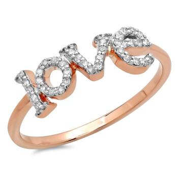 Trang sức Dazzling Rock Dazzlingrock Collection 0.20 Carat (Ctw) 14K Round Kim cương trắng Nữ Promise Love Nhẫn đính hôn