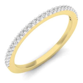 Trang sức Dazzling Rock Dazzlingrock Collection 0.18 Carat (ctw) 18K Round Kim cương Nữ Anniversary Stackable Wedding Band