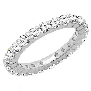 Trang sức Dazzling Rock Dazzlingrock Collection 1.70 Carat (ctw) 10K Round White Cubic Zirconia CZ Eternity Wedding Band