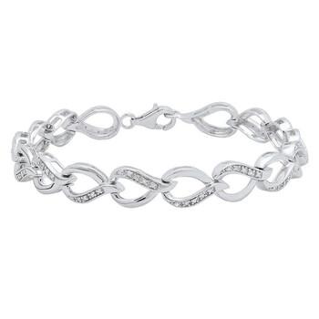 Trang sức Dazzling Rock Dazzlingrock Collection 0.15 Carat (ctw) Round Kim cương trắng Nữ Tennis Link Vòng đeo tay