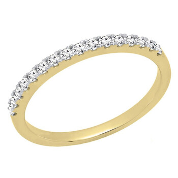 Trang sức Dazzling Rock Dazzlingrock Collection 0.25 Carat (ctw) 10K Round Kim cương trắng Nữ Wedding Stackable Band 1/4 CT