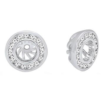 Trang sức Dazzling Rock Dazzlingrock Collection 0.25 Carat (ctw) 14K Round Cut Kim cương Removable Jackets For Stud Bông tai (khuyên tai