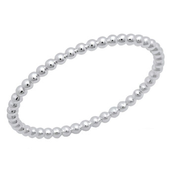 Trang sức Dazzling Rock Dazzlingrock Collection 14K Beaded Style Nữ Ball Chain Design Wedding Band