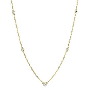 Trang sức Dazzling Rock Dazzlingrock Collection 0.30 Carat (ctw) 10K Round Kim cương trắng Nữ Dây chuyền (vòng cổ) 1/3 CT, Yellow Gold chính hãng sale giảm giá sỉ rẻ nhất ở Hà nội TPHCM