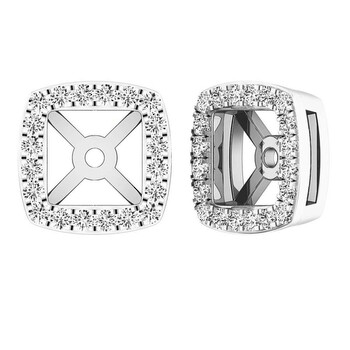 Trang sức Dazzling Rock Dazzlingrock Collection 0.25 Carat (ctw) 18K Round Kim cương trắng Removable Jackets For Stud Bông tai (khuyên tai