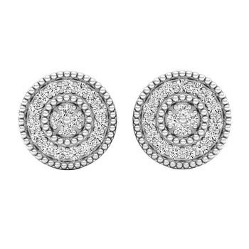 Trang sức Dazzling Rock Dazzlingrock Collection 0.10 Carat (ctw) 14K Round Kim cương trắng Nữ Cluster Stud Bông tai (khuyên tai