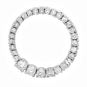 trang sức Dazzling Rock Dazzlingrock Collection 0.75 Carat (ctw) 14K Round Kim cương Nữ Journey Circle Graduating Pendant 3/4 CT, Vàng trắng chính hãng sale giá rẻ tại Hà nội TPHCM